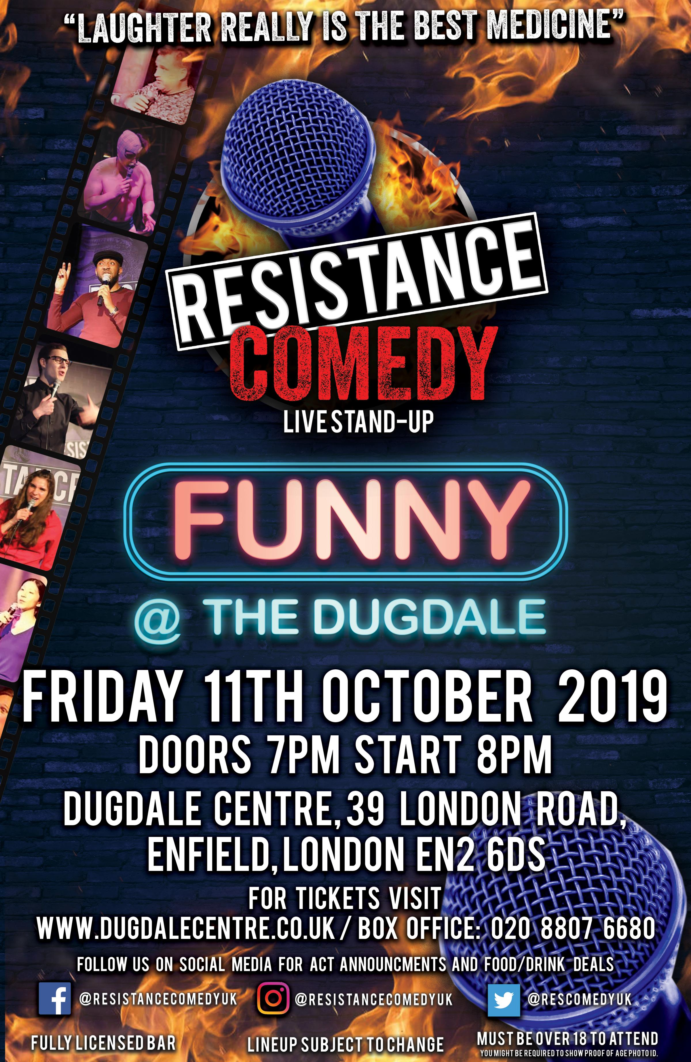 Resistance Comedy Presents Funny @ The Dugdale