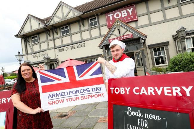 Toby Carvery will give away free meals to military personnel