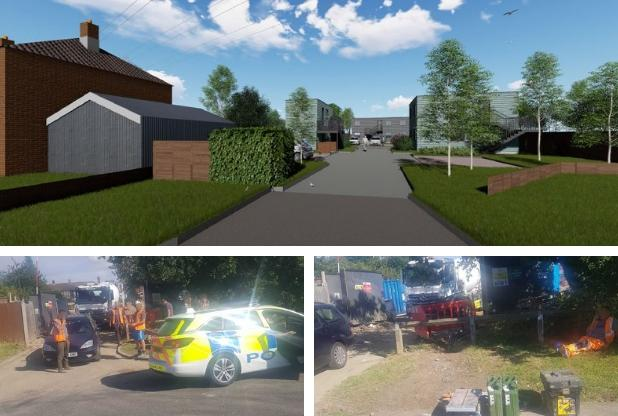 Hertsmere Borough Council is underfire for the way it has managed its development site in Crown Road