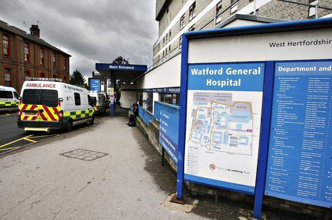 Nadine Joiner has praised the staff at Watford General Hospital.