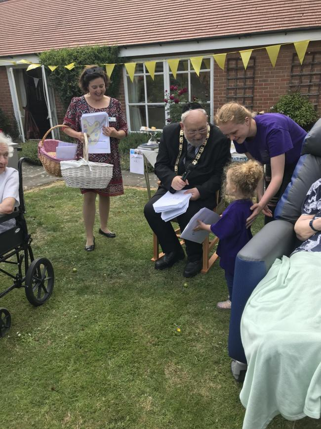 Mayor of Hertsmere Cllr Alan Plancey attending Hill House this summer