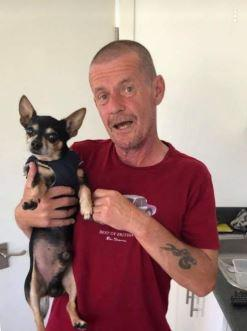 Mark pictured with missing Gizmo