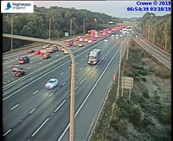 Slow traffic on M25 Clockwise J19 (1)
