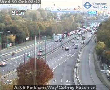 A406 near Colney Hatch Lane. Credit: TfL