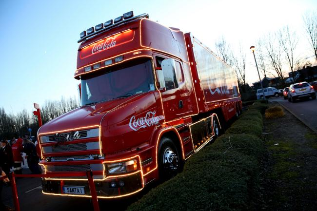 Coca Cola lorry in Borehamwood last year. Credit: Holly Cant