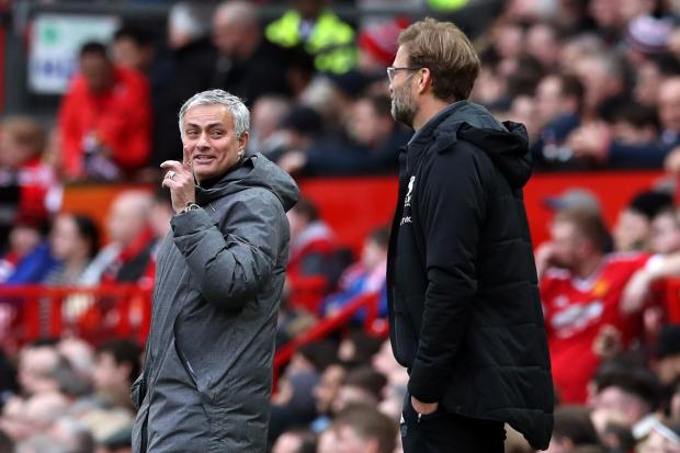 Jose Mourinho (left) will pit his wits against Liverpool boss Jurgen Klopp in the new year