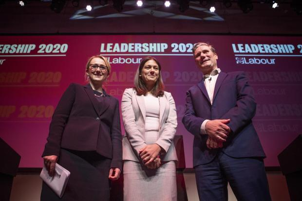 Labour leadership candidates Rebecca Long-Bailey, Lisa Nandy and Sir Keir Starmer