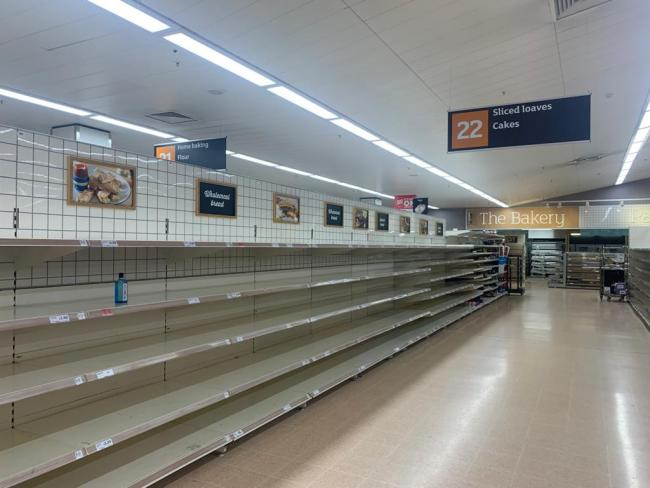The bread aisle at Sainsbury's this evening