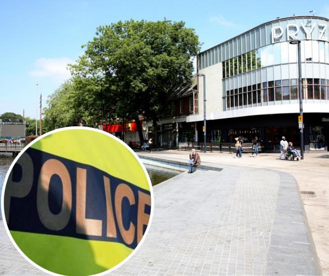 Two officers were assaulted in Watford town centre when pubs reopened
