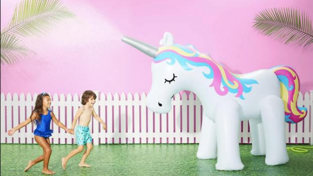 Borehamwood Times: This unicorn sprinkler looms above kids, but it's a good size for adults, too. Credit: Sun Squad