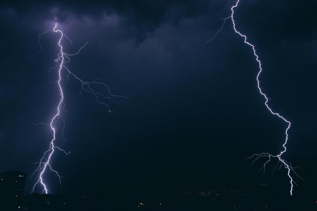 (stock image) The Met Office has warned thunderstorms are likely today. Photo: Unsplash