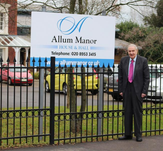 Jim McKean outside Allum Manor