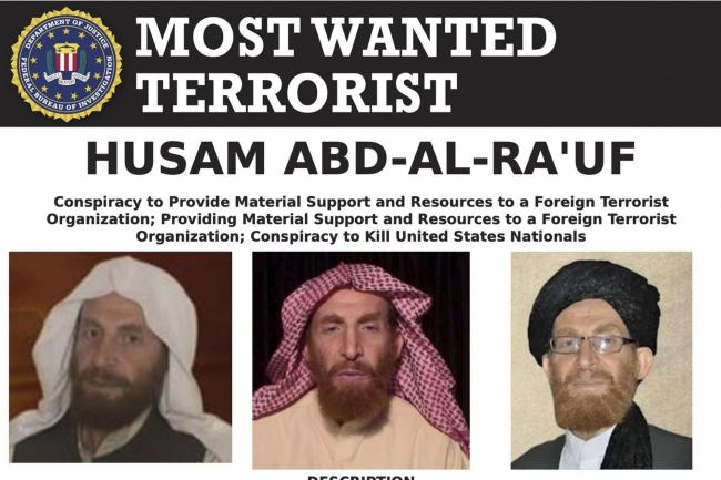The wanted poster for Husam Abd al-Rauf