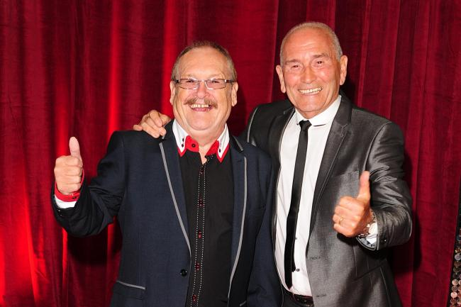 Tommy Cannon (right) and Bobby Ball (left) at the 2013 British Soap Awards at MediaCityUK, Salford, Manchester. Bobby Ball, one half of the comedy double act Cannon and Ball, has died at the age of 76. Picture: PA Wire