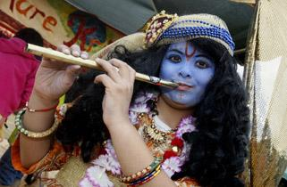 More than 40,000 people flocked to Bhaktivedanta Manor Temple in Aldenham on Sunday to celebrate Janmashtami, a festival celebrating the birth of Krishna. Visitors were treated to free vegetarian food and a lively atmosphere with dancing, music, activitie