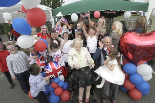 Party for last year's Royal wedding in Borehamwood