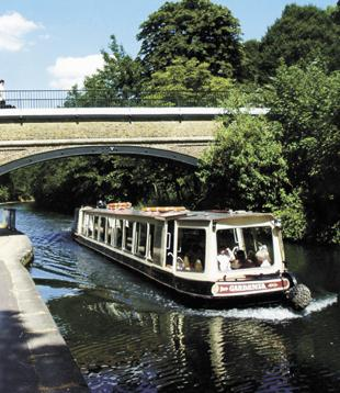 The Tyburn crosses Regent's Canal via a bridge