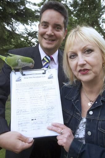 Campaigner wants focus on parakeets after police incident