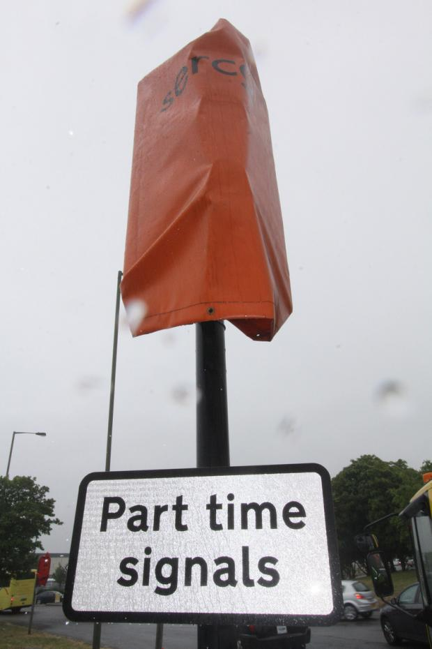 Stirling Corner is manned by part-time traffic signals