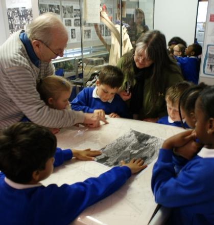 School trip for pupils about local history