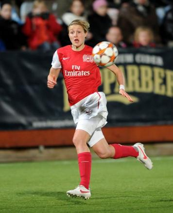 Ellen White will be writing a column for the Arsenal programme this season. Picture: Arsenal FC