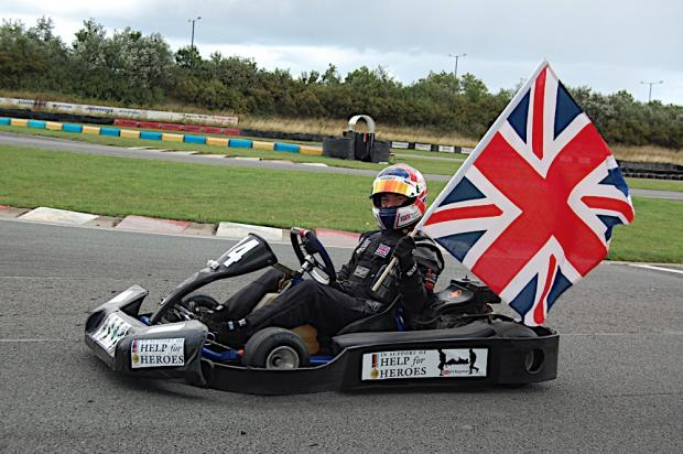 World Record for 24 hour go kart racer