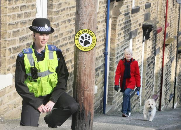 PCSO Sam O'Grady hopes to sign dog walkers up to the Dog Watch sheme, which aims to help police sniff out crime and anti-social behaviour in the area.
