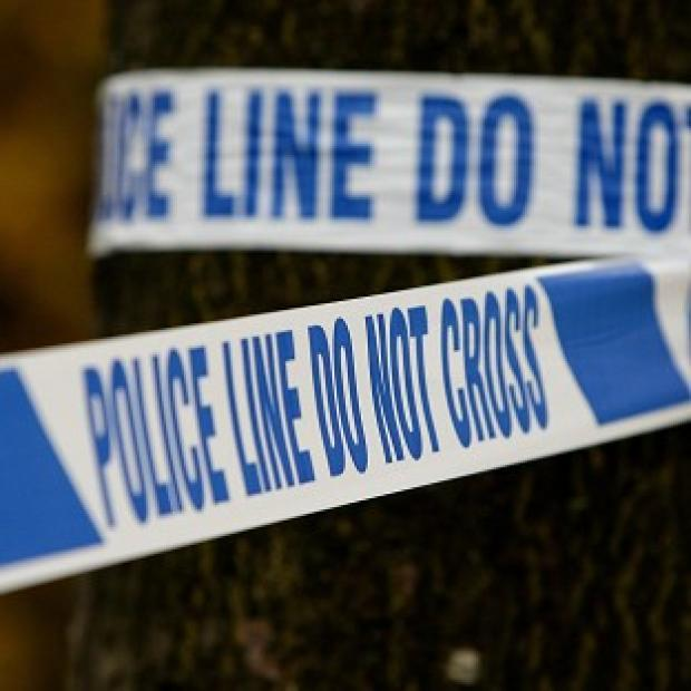 The victim suffered stab wounds in Buckingham Road at 12.45pm