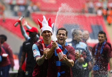 The Hammers are playing their first game in England since their Wembley triumph: Action Images