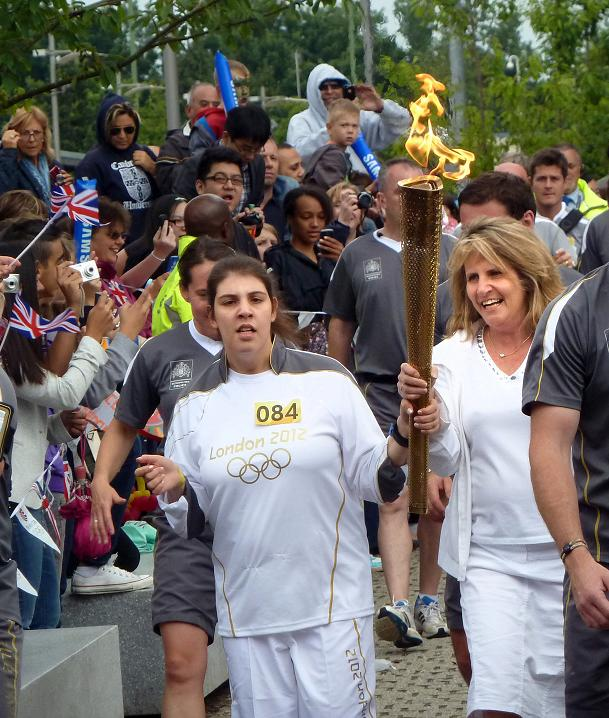 Disabled teen walks through Hatfield with the Olympic flame