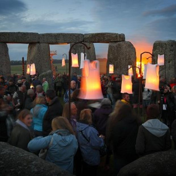 Fire sculptures light up Stonehenge as French artists Compagnie Carabosse present Fire Garden
