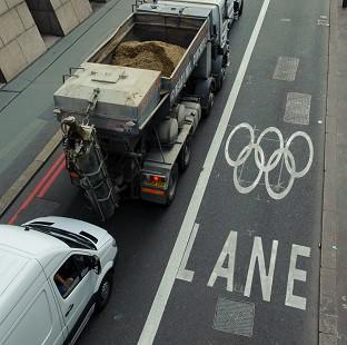 Boris Johnson said some Games lanes have been turned off because so many people are going by public transport