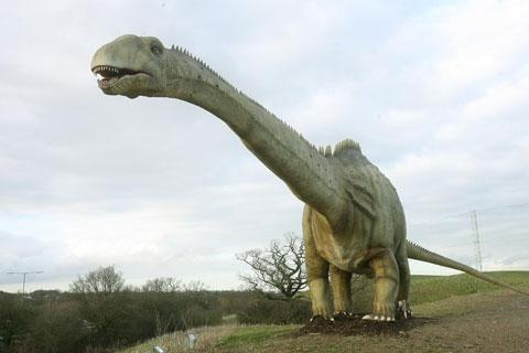Borehamwood Times: Inspectors have ordered that a towering Diplodocus statue at the Dinosaur Safari Adventure Golf Course on the Barnet/Borehamwood border be made extinct