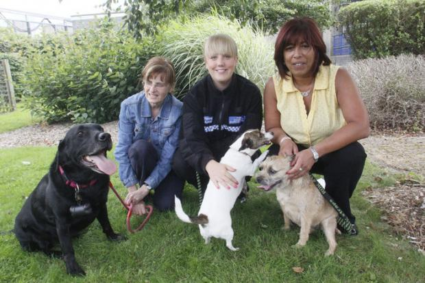 PCSO Sophie Watson with other Dog Watch members at the launch last year