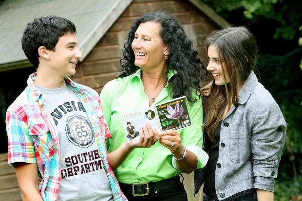 Max, Sandra and Francesca with the charity CD