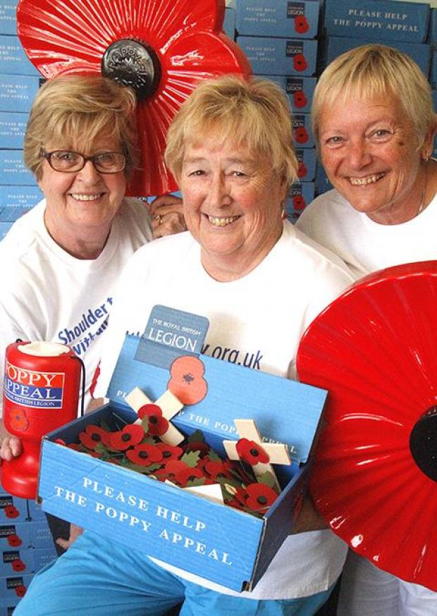 Volunteers at the Royal British Legion are looking for people to give just two hours a week to help sell Poppies.