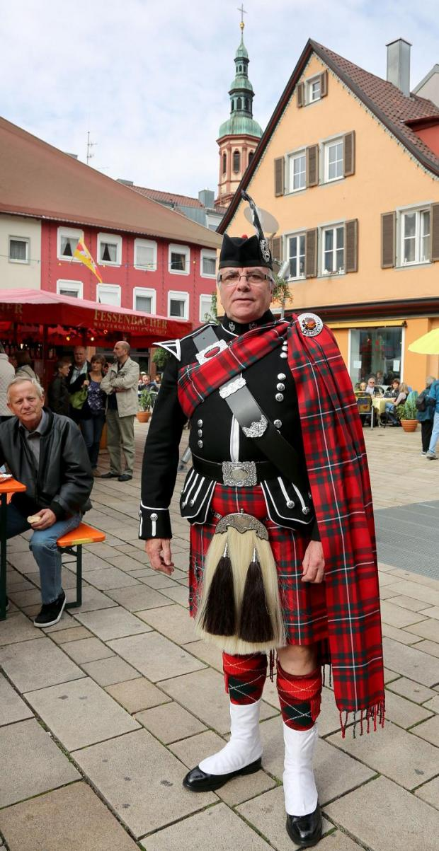 A band member in Offenburg