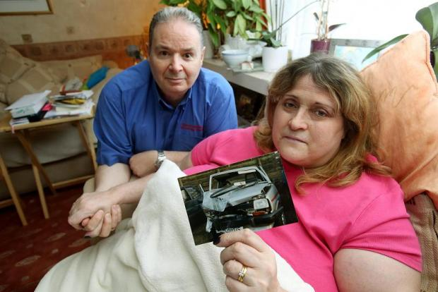Carol, with her husband, Steve, who has leukaemia