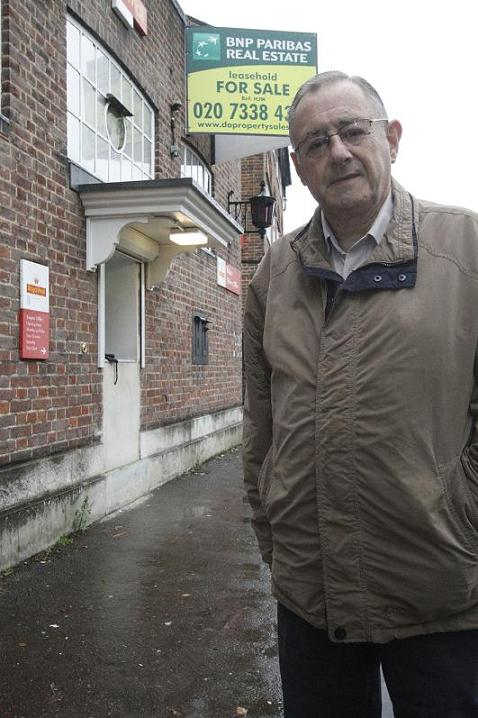 Mr Karmel, pictured at the sorting office, is relieved it will be staying open