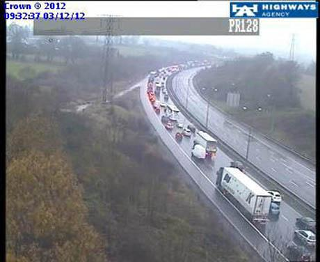 The M1 southbound between Watford and Edgware was closed this morning after a fatal accident.