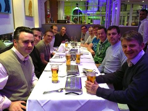 Borehamwood Water Polo Club celebrated their win with a curry