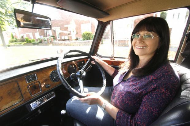 Diane Lee with her Vanden Plas Princess