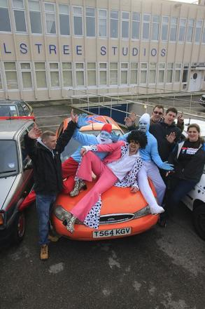 Old bangers cruise to Elstree Studios for charity