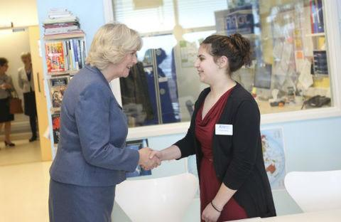 Sophie Abergil meets the Duchess of Cornwall.