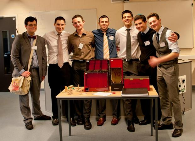 Left to Right: Elliot Shayle, Ben Schapira, Sam Massias, Mr Macaulay, Ben Kaufman, Scott Michaels, Daniel Greenblatt