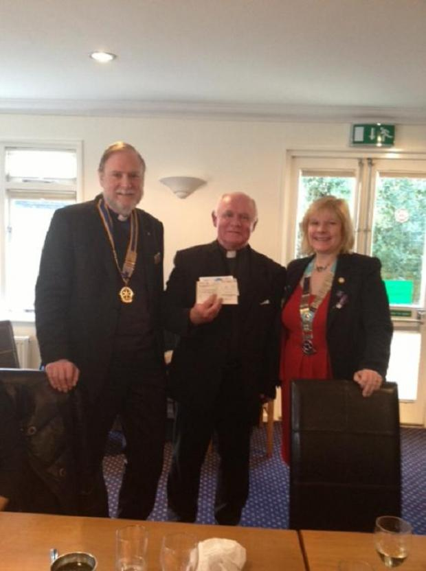 President Rev Richard Leslie with Rev McKenna and Eve Conway-Ghazi