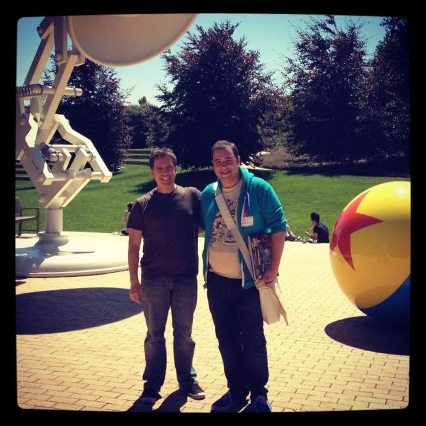 Borehamwood Times: Mr Berry met Lee Unkrich, director of Toy Story 3, in California to discuss the Elstree Project
