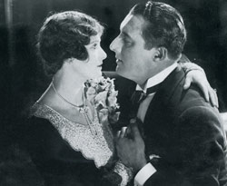 Tragedy: actress Lillian Hall-Davis, who cut her own throat, and Henry Victor, in the film Tommy Atkins