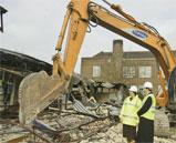 New beginning: work begins to transform the site of the old Hillside School in Borehamwood into a new Jewish high school, Yavneh College, which is due to take its first intake of 90 students in September