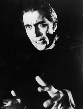 Bloodthirsty: Christopher Lee gained international fame as Dracula, a role for which he was paid �750